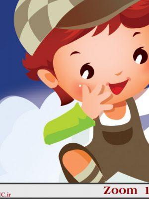 بزرگنمایی کامل تقویم کودک 97 لایه باز دیواری (طرح فضا ) - 11